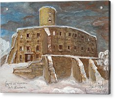 The Castle Acrylic Print by Anna Folkartanna Maciejewska-Dyba
