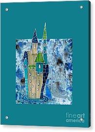 The Castle Descends Acrylic Print by Aqualia