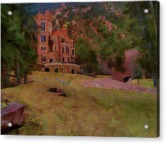 Acrylic Print featuring the digital art The Castle by Ernie Echols