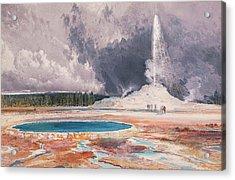 The Castle Geyser, Upper Geyser Basin, Yellowstone National Park Acrylic Print