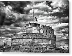 The Castle Of Sant'angelo In Rome Acrylic Print