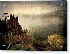 The Castle On The Lake. Malcesine Acrylic Print