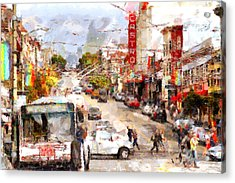 The Castro In San Francisco . 7d7573 Acrylic Print by Wingsdomain Art and Photography
