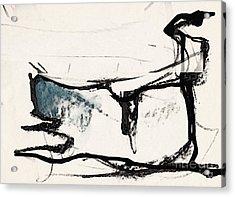 The Cat Acrylic Print by Airton Sobreira