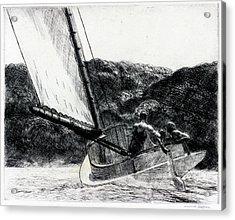 The Cat Boat Acrylic Print