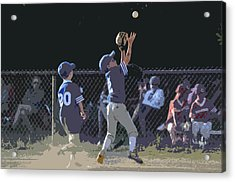 The Catch Acrylic Print by Peter  McIntosh