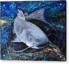 The Catfish And The Crawdad Acrylic Print