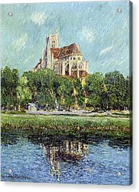 The Cathedral At Auxerre Acrylic Print by Gustave Loiseau