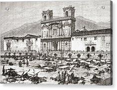 The Cathedral, Plaza De La Acrylic Print by Vintage Design Pics