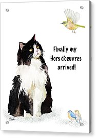 Acrylic Print featuring the painting The Cat's Hors D'oeuvres by Colleen Taylor