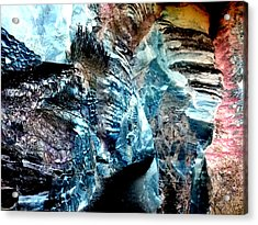The Caves Of Q'th Acrylic Print