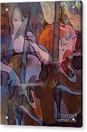 The Cellist Acrylic Print by Alexis Rotella