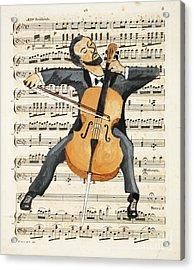 The Cellist Acrylic Print by Paul Helm