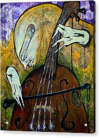 The Celloist Acrylic Print by Mark M  Mellon