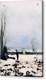 The Cemetery Acrylic Print by Mountain Dreams