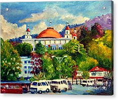 The Central Taxi Terminal In Jayapura Acrylic Print