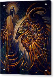 The Cernunnos Of Metatron Acrylic Print by Stephen Lucas