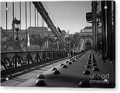 The Chain Bridge, Danube Budapest Acrylic Print