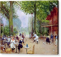 The Chalet Du Cycle In The Bois De Boulogne Acrylic Print