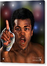The Champ Is Here -period Acrylic Print by Reggie Duffie