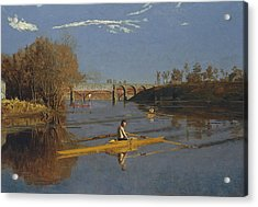 The Champion Single Sculls Acrylic Print by Thomas Eakins