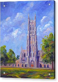 The Chapel At Duke University Acrylic Print by Jeff Pittman