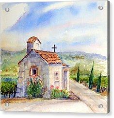 The Chapel - Castello Di Amorosa Acrylic Print