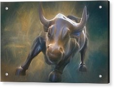 The Charging Bull Acrylic Print by Dan Sproul