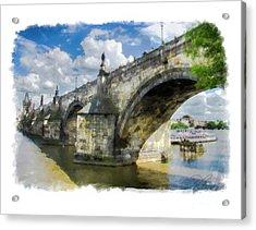 The Charles Bridge - Prague Acrylic Print