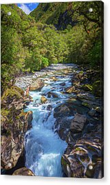 The Chasm Southland New Zealand Acrylic Print