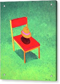 The Chat Acrylic Print by Thomas Blood