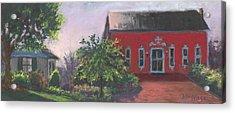 The Chateau Barn Acrylic Print by Terri  Meyer