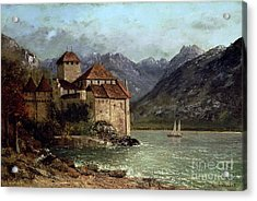 The Chateau De Chillon Acrylic Print by Gustave Courbet