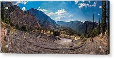 Acrylic Print featuring the photograph The Cheap Seats At Delphi by Micah Goff
