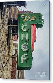 The Chef Acrylic Print