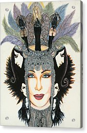 The Cher-est Painting Acrylic Print by Joseph Lawrence Vasile