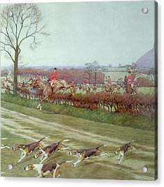 The Cheshire Away From Tattenhall Acrylic Print by Cecil Charles Windsor Aldin