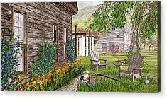 Acrylic Print featuring the photograph The Chicken Coop by Peter J Sucy