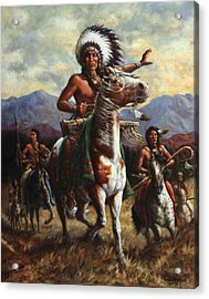 Acrylic Print featuring the painting The Chief by Harvie Brown