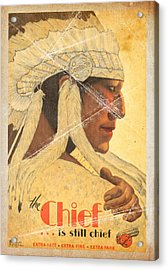 The Chief Train - Vintage Poster Folded Acrylic Print
