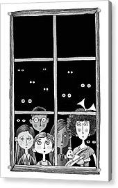The Children In The Window Acrylic Print