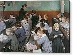 The Children's Class Acrylic Print by Henri Jules Jean Geoffroy