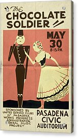 The Chocolate Soldier - Vintage Poster Folded Acrylic Print