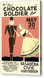 The Chocolate Soldier - Vintage Poster Restored Acrylic Print