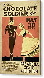 The Chocolate Soldier - Vintage Poster Vintagelized Acrylic Print