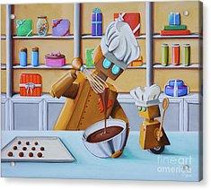 The Chocolatiers Acrylic Print by Cindy Thornton
