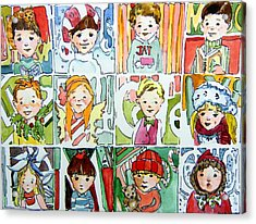 The Christmas Cousins Acrylic Print