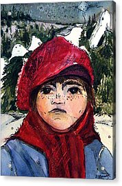 The Christmas Dreamer Acrylic Print by Mindy Newman