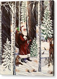 The Christmas Forest Visitor 2 Acrylic Print