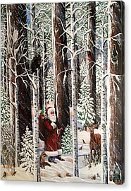 The Christmas Forest Visitor Acrylic Print